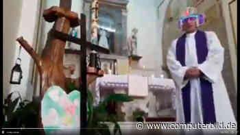 Um Gottes Willen: Priester predigt mit Videofilter