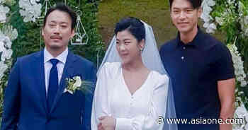 Hyun Bin steals the limelight at a wedding in fitted polo tee - AsiaOne