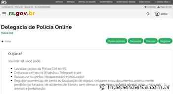 Governo do RS disponibiliza serviço online para registro de ocorrência policial - independente