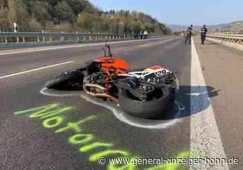 Unfall bei Remagen: 37-jähriger Motorradfahrer verletzt sich bei Sturz auf der B9 schwer - General-Anzeiger