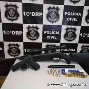 Polícia Civil apreende armas de fogo em Ceres; uma delas tinha silenciador - FolhaGO