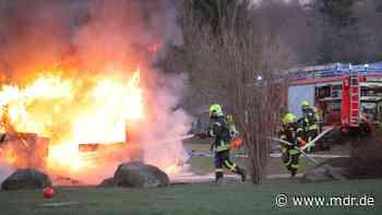 Schuppenbrand an Grundschule in Annaberg-Buchholz - MDR