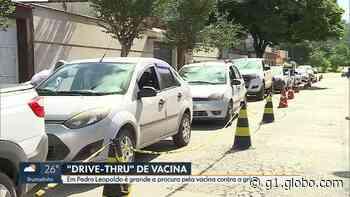 Idosos são vacinados em esquema de 'drive thru' em Pedro Leopoldo, na Grande BH - G1
