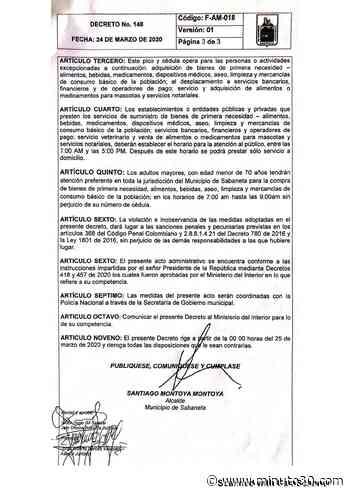 ¡Atención! La Alcaldía de Sabaneta decretó pico y cédula para transitar por el municipio - Minuto30.com