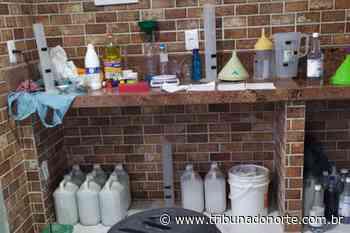 Polícia fecha fábrica clandestina de álcool em gel em Currais Novos - Tribuna do Norte - Natal