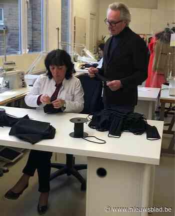"""Prestigieus modehuis maakt trendy mondmaskers en geeft ze aan ziekenhuizen: """"De gift gaat hier over de tongen omdat de ontwerper royalty kleedt"""""""