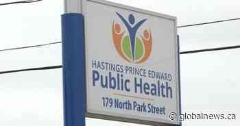 1 new case of COVID-19 in Hastings, Prince Edward counties, total rises to 6 - Global News