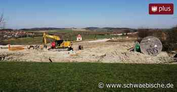Auf der Baustelle in Lauchheim wird fleißig weitergearbeitet - Schwäbische