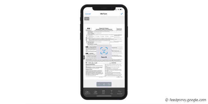 SignEasy becomes first digital signing app to support Face ID for completing documents