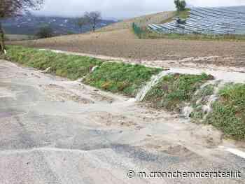 Maltempo, smottamenti nella zona di Camerino - Cronache Maceratesi