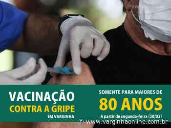 Vacinação contra a Influenza continua na segunda-feira em Varginha, mas somente para maiores de 80 anos - Varginha Online