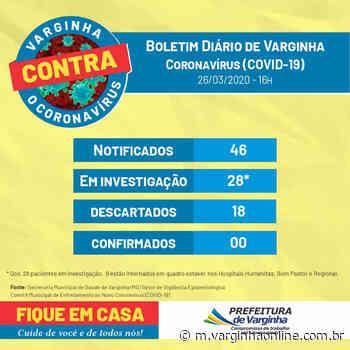 Nova Atualização: Varginha registra novo aumento no número de casos suspeitos de coronavírus nesta quinta-feira (26/03); 9 pessoas estão internadas - Varginha Online