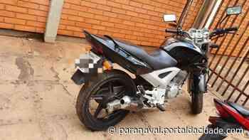 Moto furtada em Maringá é localizada em casa no Jardim Ouro Branco - ® Portal da Cidade | Paranavaí