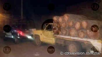 Arrestan a dos con madera ilegal en Ciudad Hidalgo - CB Televisión