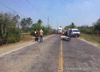 En aparatoso accidente muere joven en carretera de Cosamaloapan - Imagen del Golfo