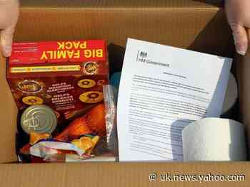 Coronavirus: First food parcels delivered to vulnerable people in self-isolation in government 'shielding' operation