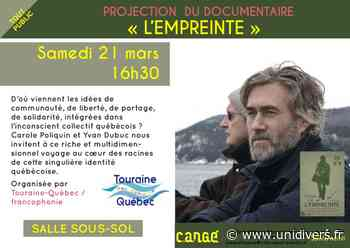 Projection : « L'empreinte » Médiathèque de Cangé Saint-Avertin 21 mars 2020 - Unidivers