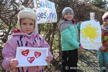 Kinder setzen Hoffnungszeichen - Freie Presse