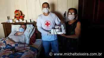 Cruz Vermelha cede aparelho respirador a morador de Fraiburgo que vive acamado - Michel Teixeira