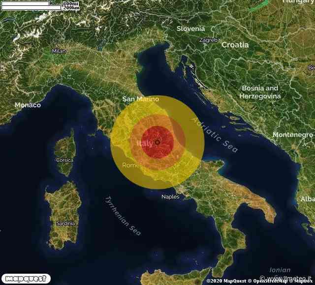 TERREMOTO in ABRUZZO a Montereale (L'AQUILA) di Magnitudo 2.7. Ecco QUI i DETTAGLI - iLMeteo.it