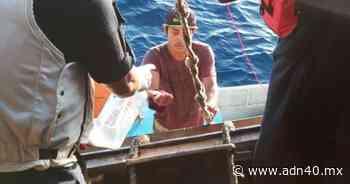 Rescatan a 3 náufragos en Ciudad del Carmen, Campeche - ADN 40