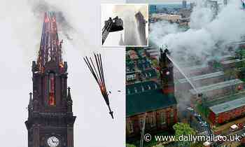 Steeple of historic church collapses after firefighters battle four-alarm fire in Baltimore