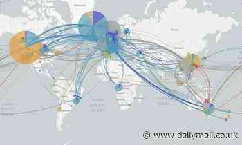 US coronavirus: Map shows how eight strains of raced around the world