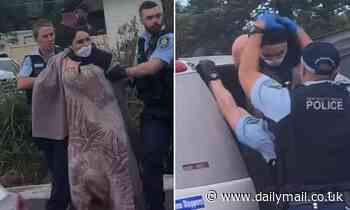New footage of Audi driver who 'spat on police during arrest' while claiming to have coronavirus