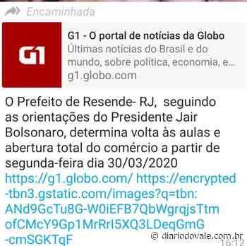 Prefeitura de Resende desmente informação contida em mensagem de WhatsApp - Diario do Vale