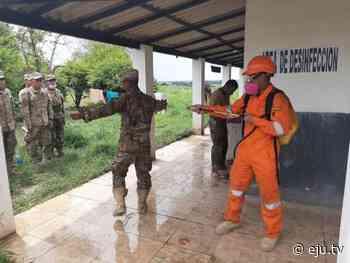 Fumigan a marineros para evitar contagio del Covid-19 en Puerto Quijarro, Santa Cruz - eju.tv