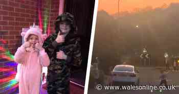 The Welsh neighbours who have a disco on their doorsteps every night