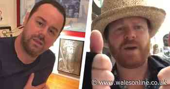 Danny Dyer and Keith Lemon show support to Welsh NHS staff