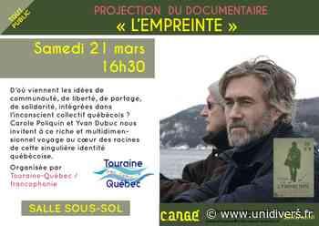 Projection : « L'empreinte » Médiathèque de Cangé 21 mars 2020 - unidivers.fr