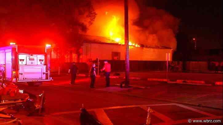 Overnight fire destroys house, spreads to church