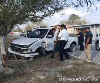 Por fallas mecánicas chocó contra un árbol en San Miguel de Sema - Extra Boyacá