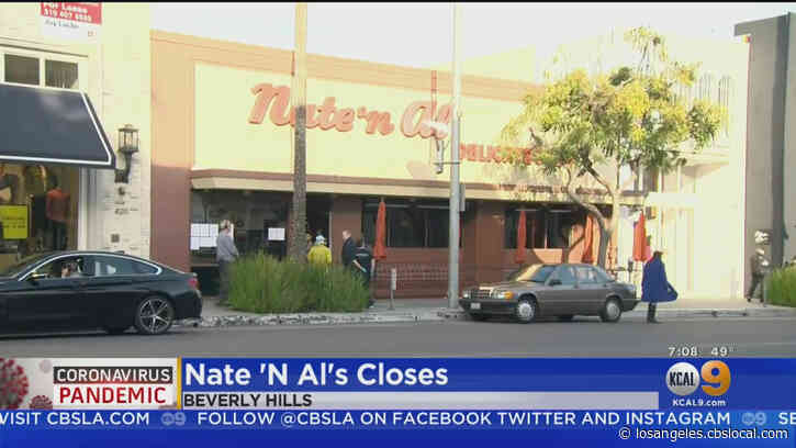 COVID-19 Fallout: Landmark Restaurant Nate 'N Al's Closing Its Doors After 75 Years