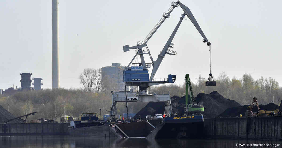 Saarland: Schiff im Hafen Dillingen gesunken - 1000 Tonnen Staub in Saar - Saarbrücker Zeitung