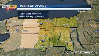 Strong storms move east, Wind Advisory for parts of the area
