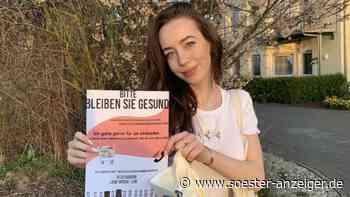 Lena Teckentrup kauft während Corona-Krise für Senioren ein | Ense - Soester Anzeiger