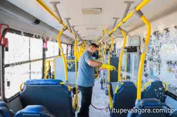 Coronavírus: Frota do transporte público de Itupeva recebe reforço na higienização - Itupeva Agora