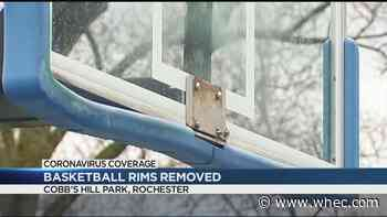 Rims removed from Cobbs Hill courts to enforce social distancing