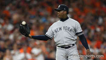 Yankees pitcher Aroldis Chapman appears to be spending his quarantine getting massively jacked