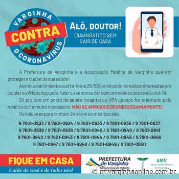 Alô Doutor: População de Varginha pode fazer consulta gratuita por telefone - Varginha Online