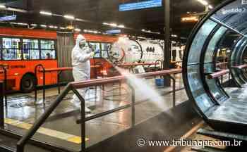 Terminais de Curitiba passam por limpeza pesada contra o coronavírus - Tribuna do Paraná