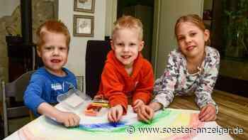 Coronavirus: Kinder in Werl malen Regenbogen und vermitteln positive Botschaften   Werl - Soester Anzeiger