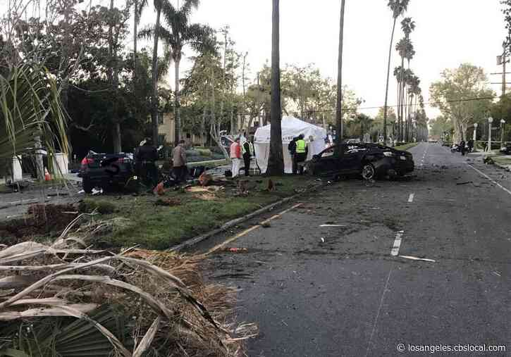 2 Killed In Violent Hancock Park Collision Which Uproots Palm Tree