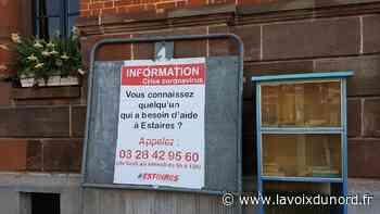 Des panneaux avec un numéro d'aide installés dans les rues d'Estaires - La Voix du Nord