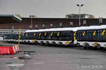 Chauffeurs De Lijn voeren actie aan stelplaats Zurenborg - Gazet van Antwerpen