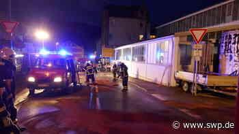 Autobrand in Blaubeuren: Auto geht in Flammen auf - SWP