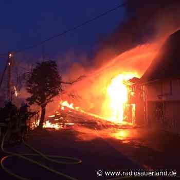 Feuer in Brilon Alme - Radio Sauerland